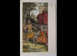 Ritter, Parzival mit seinem Stiefbruder, Heiliger Gral