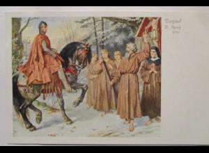 Ritter, Parzival begegnet Wallfahrer, Heiliger Gral