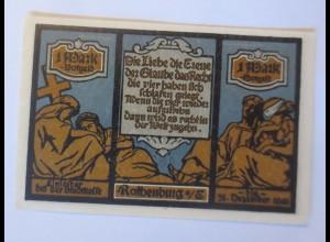 Notgeld der Stadt Rotenburg, 1. Mark, 4 Juni 1921 ♥