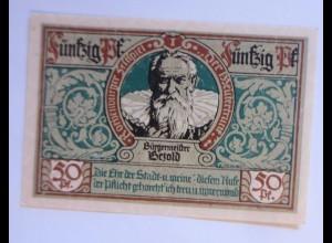 Notgeld der Stadt Rotenburg, 50 Pf, Bürgermeister , 24 Juni 1921 ♥ (7903)