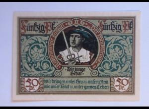 Notgeld der Stadt Rotenburg, 50 Pf, Die Junge Schar , 24 Juni 1921 ♥ (1714)