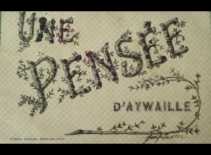 """""""Spruch, Une Pensee"""" 1905, Glitzerkarte ♥"""