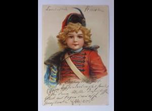 """""""Kinder, Soldat, Roter Husar, Österreich-Ungarn"""" 1899 ♥ (41339)"""