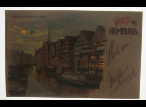 """""""Gruß aus Hamburg, Deichstrasse"""" 1900, Transparentpostk. Meteor ♥ (14772)"""