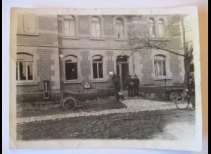 Kaiserliches Postamt, Briefträger, Karren, Fahrrad, original Foto (45954)