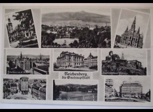Reichenberg, Mehrbildkarte, ca. 1930