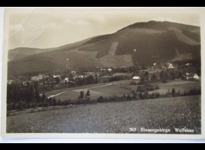 Wolfshau im Riesengebirge, Fotokarte 1937 nach Zürich
