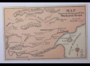 Valentinstag, Scherzkarte, Landkarte der Liebe, 1916 ♥ (55780)