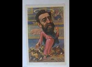 Politik, Karikatur, sign. B. Moloch: Karikatur, Franz. Politiker, Tiere (33357)