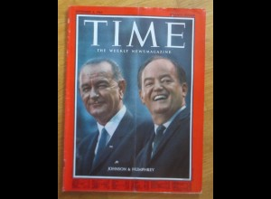 Time Magazine, Johnson & Humphrey, 4. September 1964 ♥