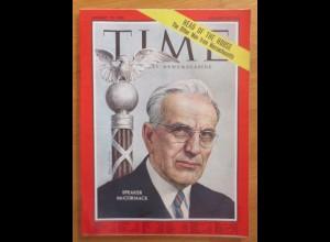 Time Magazine, Speaker Mc Cormack 19 January, Januar, 1962 ♥