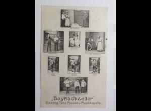Bayrischzeller, Gesang, Tanz, Possen, u. Musikkappelle, Bayern 1910 ♥ (67942)
