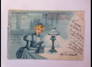 Gruß aus, Überraschungs-Karte, Frauen, Metamorphose, 1900 ♥ (17431)