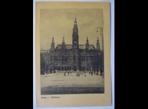 Österreich zerstörtes Wien 1945 Rathaus (17432)
