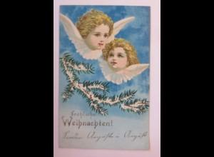 Weihnachten, Engel, Tannenzweig, 1900 ♥