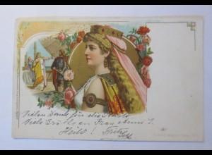 Richard Wagner, Tristan und Isolde, 1900, Litho ♥ (66254)