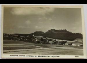 Papstdorf mit Gohrischstein und Papststein, 1946