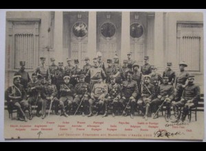 Armee Manöver 1902, Offiziere aus Aller Welt
