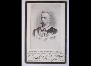 Italien, König Humbert, Trauerkarte 1900 (32285)