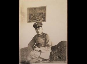 Deutscher Soldat in Cerniky, Soldat,Jugendstil Art Noveau Sofa ,Gemälde