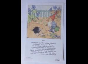 Sammelbild, Zwerg, Maulwurf 10,5 cm x 6,5 cm 1950, Ida Bohatta Morpurgo♥