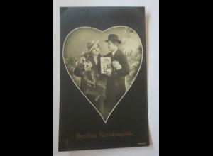 Neujahr, Frauen, Männer, Mode, Herz, Glückssymbole, 1910 ♥ (30106)