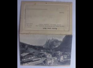 """""""Schweiz ,Grindelwald und Wetterhorn, Alpen, Edelweiß """" 1913, Klappkarte♥"""