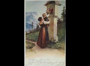 """Frauen, Kinder, Kreuz, Berge"" 1903, F. Döcker ♥"