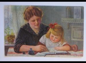 Künstlerkarte, Gruß an Papa, 1913, Karl Müller, Erpaco Kunstverlag ♥