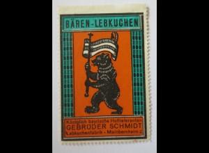 Reklamemarke, Werbung, Bären-Lebkuchen, Lebkuchen Fabrik Meinbernheim 2 (30034)