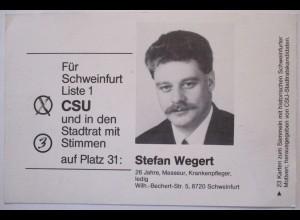 Politik CSU Bayern Schweinfurt, Abgeordneter Stefan Wegert (28912)