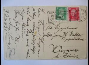 Baden Baden, Rennen 1928, Werbestempel