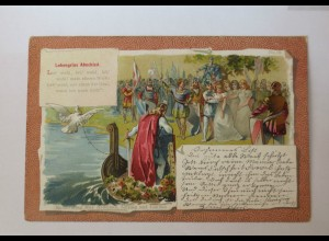 """""""Märchen-Sagen, Lohengrins Abschied"""" 1900 ♥ (34143)"""