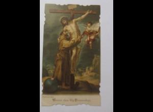 Andachtsbildchen, Heiligenbildchen, Vision des Hlg. Franziskus, 1915 ♥