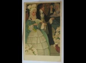 """""""Frauen, Frauen, Mode, Barock, Ball, Fächer"""" 1908, Munk- Vienne ♥"""