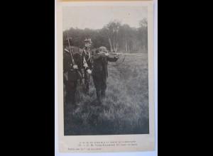 Italien, König Victor Emanuel III. auf der Jagd, ca. 1900