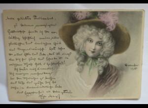 """Frauen, Mode, Hut Mode, Barock"" 1905, Munk- Vienne ♥"