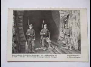 """Kriegspostkarte """"Kränzchen"""" Tunnelbewachung in Österreich-Ungarn (37274)"""