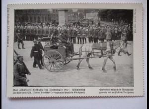 """Kriegspostkarte """"Kränzchen"""" Erobertes russisches Maschinengewehr"""