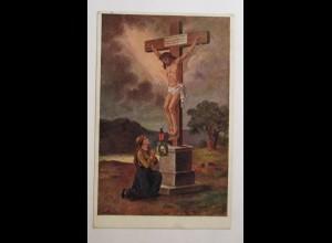 """""""Heilige, Jesus am Kreuz, Herannahendes Gewitter"""" 1920 ♥"""