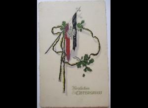 Ostern WW 1, Deutschland-Österreich, Prägedruck 1918 ♥ (51745)