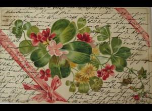 """""""Blumen, Kleeblatt, Schleife, Blumen"""" 1902 ♥"""