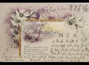 """""""Blumen, Landschaft, Spruch"""" 1899 ♥"""