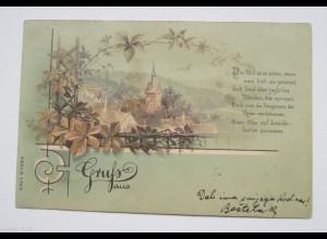"""""""Blumen, Dorf, Spruch"""" 1899 ♥"""