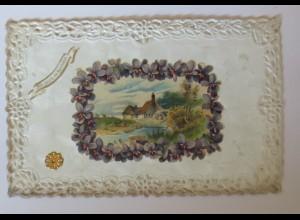 Glanzbild, Wassermühle, Karte, 1910 ♥ (22453)