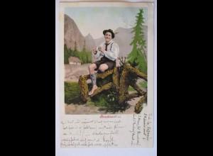 Berge Trachten Mundart, Goasbua, 1903 (45406)