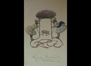 """""""Geburtstag, Kinder, Schwein, Reifen"""" 1913 ♥ (15016)"""