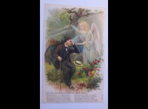 """""""Engel, Schutzengel, Im Himmel werde ich für dich beten""""1909, Prägekarte♥"""