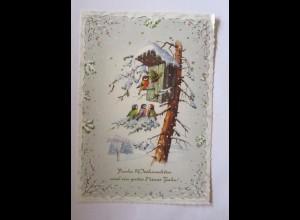 Weihnachten, Vogel, Vogelhaus, 1960 ♥ (50731)