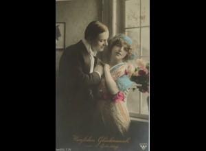 Geburtstag, Männer, Frauen, Blumen, 1916 ♥ (18824)